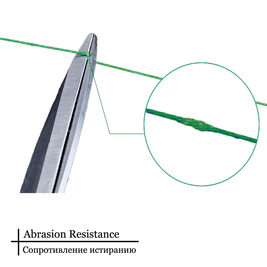 4 strands fishingline abrasion resistance