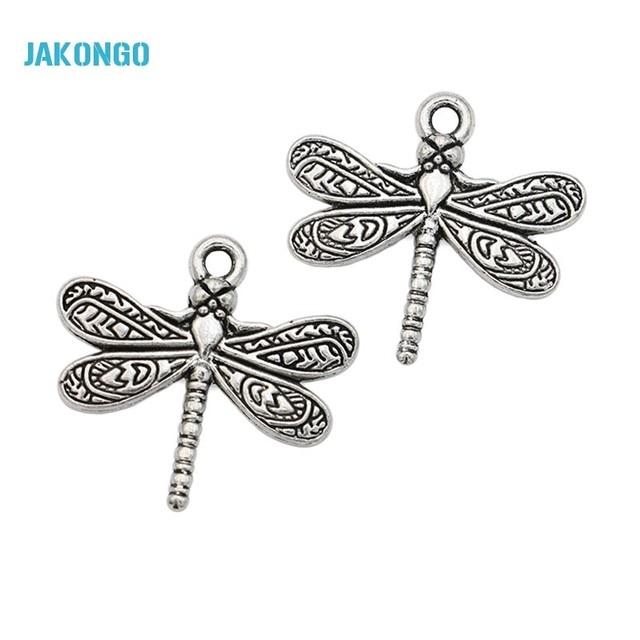 20pcs tibetan silver plated dragonfly charms pendants for bracelet 20pcs tibetan silver plated dragonfly charms pendants for bracelet jewelry making diy handmade craft 20x21mm aloadofball Gallery