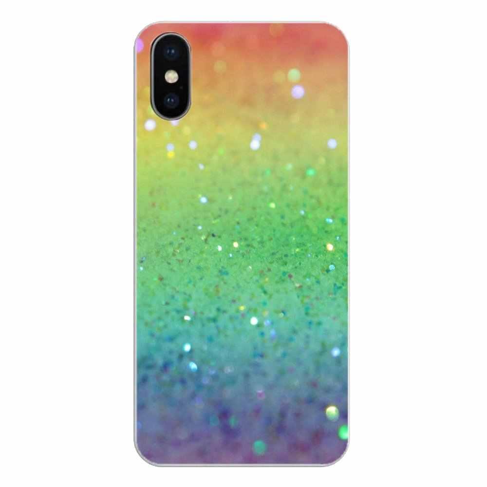 Para iPod Touch iPhone 4 4 4S 5 5S 5C SE 6 6S 7 8 X XR XS Plus MAX colorido brillo de cristal de diamante Pastel fundas blandas