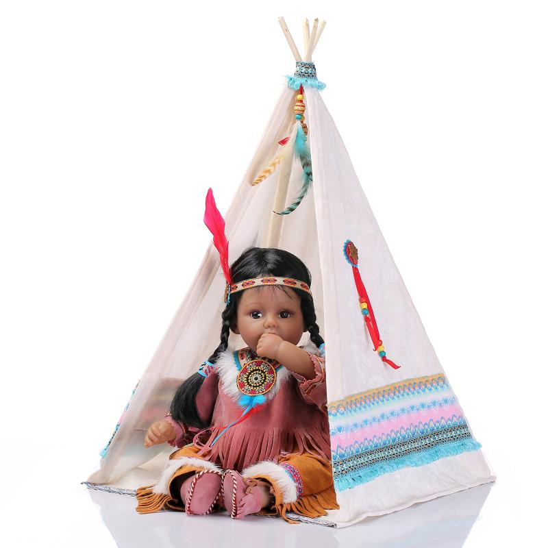 50CM American Popular Simulation Doll Native American Indian Reborn Baby Doll Culture Education Toy Doll Newborn Baby Doll Gift баффи санти мари buffy sainte marie native north american child an odyssey
