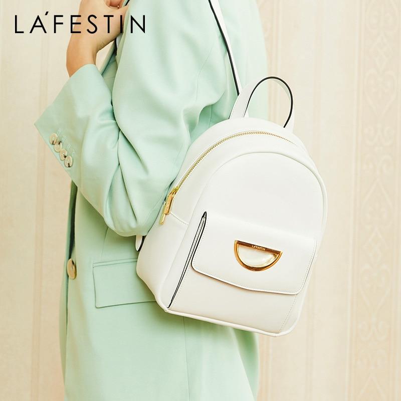 La Festin 2019 new leather women backpack large capacity travel bag student bag fashion versatile shoulder