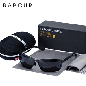 Image 1 - BARCUR Aluminum Polarized Sunglasses for Men Eyewear Accessories Men Blue Mirror Sun Glasses Luxury Goggle