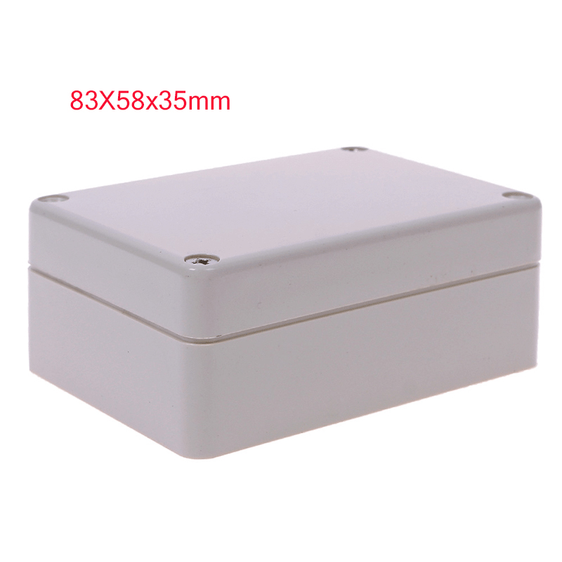 1 шт. квадратная 83x58x33 мм прозрачная крышка электронная пластиковая коробка водонепроницаемый электрический распределительный чехол для эл...