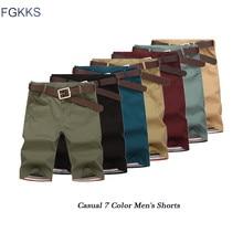 FGKKS Mens Shorts New Summer Fashion Casual Cotton Slim Berm