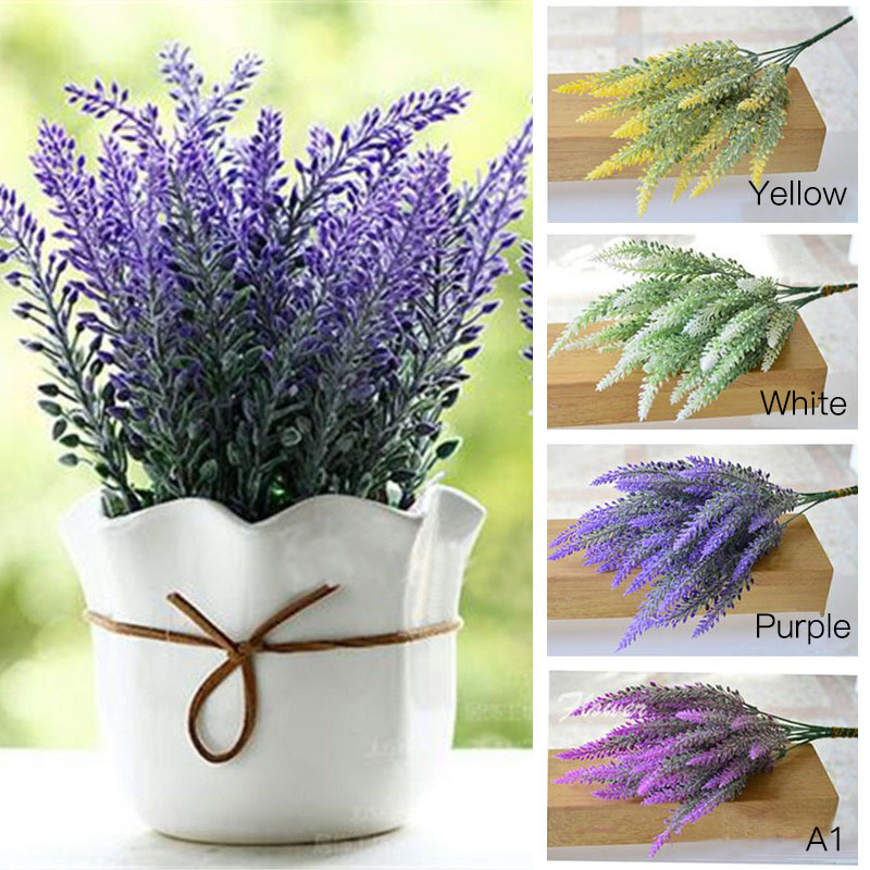 1 Piece Romantic Provence Decoration Lavender Flower Silk Artificial Flowers Grain Decorative