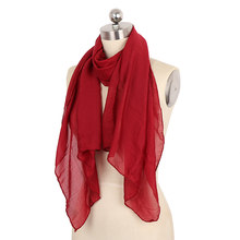 2018 Autumn Winter Female Cotton Solid Scarf Women Infinity Longer Cashmere Scarves Wide Long Shawl Wrap Warm Scarf Drop Ship(China)