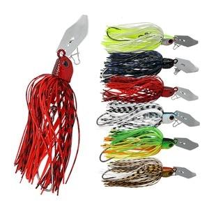 JonStar 2 шт./лот 16 г рыболовная болтовня, Спиннер, Спиннер, рыболовная приманка Buzzbait chatterbait для басов, щука, walleye, для рыбалки