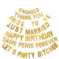 1 шт 13 см именной, буква номер DIY Золотая блестящая бумага подвесные украшения флаги для дня рождения и свадьбы бакалавра вечерние украшения