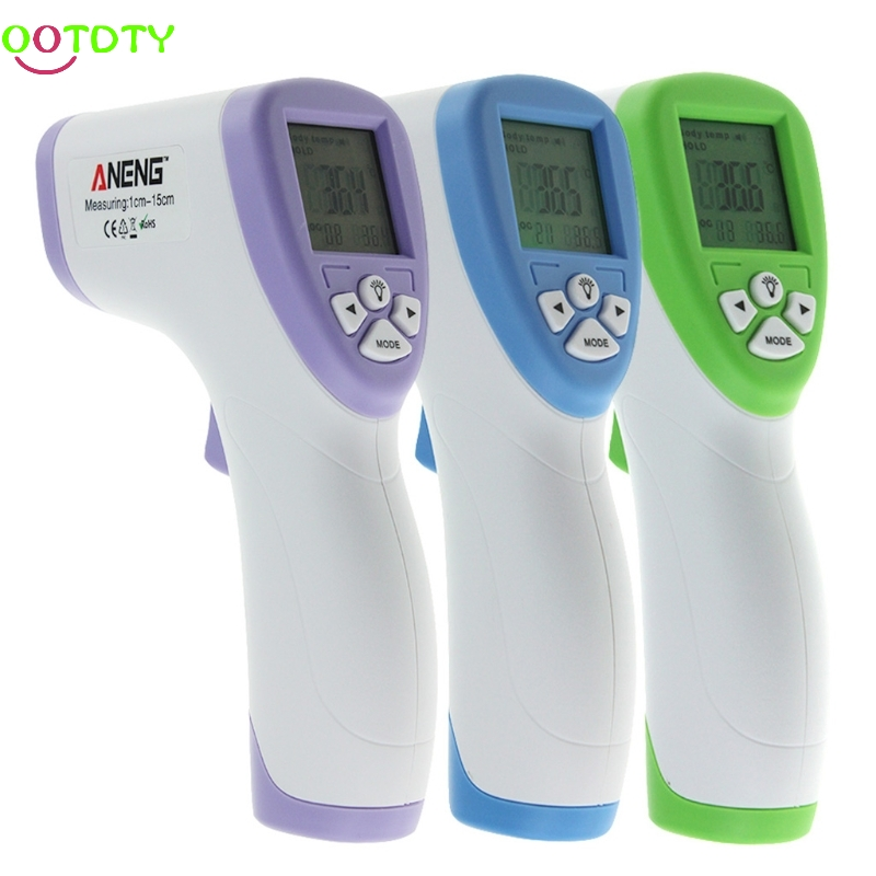 Digital LCD Non-contact IR Infrared Thermometer Forehead Body Temperature Meter  828 Promotion cofoe thermometer body temperature fever measurement forehead non contact infrared lcd ir digital tool device for baby child