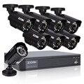 ZOSI 8CH Sistema de CCTV 8CH 720 P HDMI Rede DVR 8x1.0 MP 1280TVL CUT IR Câmera À Prova D' Água Ao Ar Livre Sistema de Segurança de vigilância
