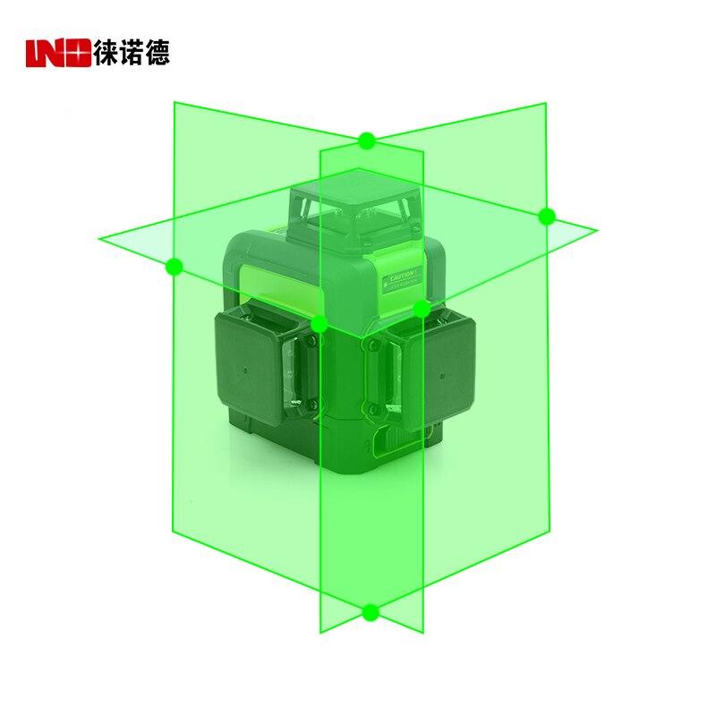 LND 3d Auto Nivellement Vert Laser Niveau 360 Degrés 12 Lignes Horizontal et Vertical Croix