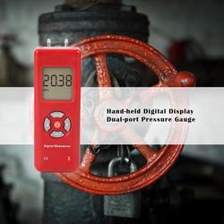 Ręczny manometr cyfrowy Dual port profesjonalny miernik ciśnienia różnicowego powietrza tester ciśnienia ciśnienia przyrządy pomiarowe|Manometry|   -