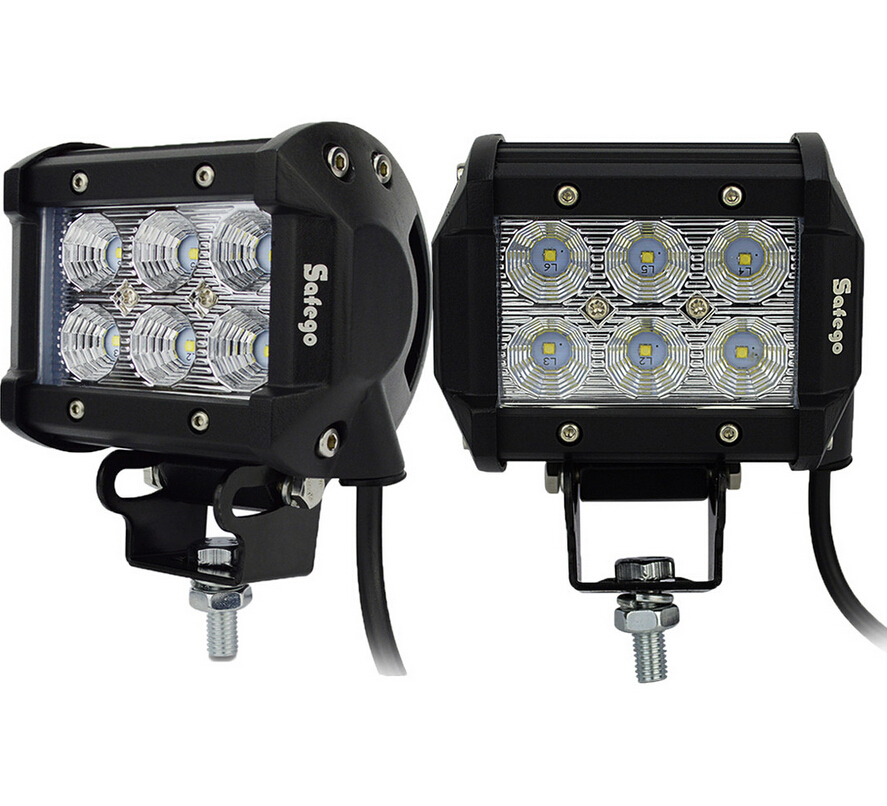 2 stücke safego externes licht 4 zoll 18 watt led treibende lampe - Auto Lichter