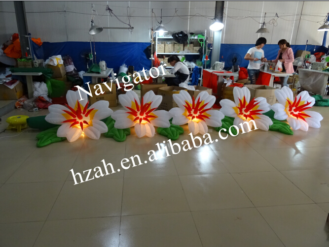 Light Inflatable Wedding Flower Stage Decoration