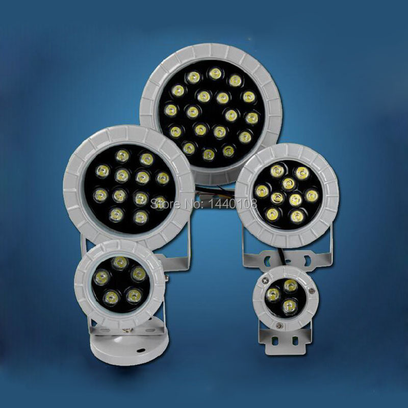 10pcs/lot 12w LED Spot Light IP65 Waterproof Outdoor Garden Yard Lawn Square Swimming Pool Led Cast Light Aluminum Floodlights