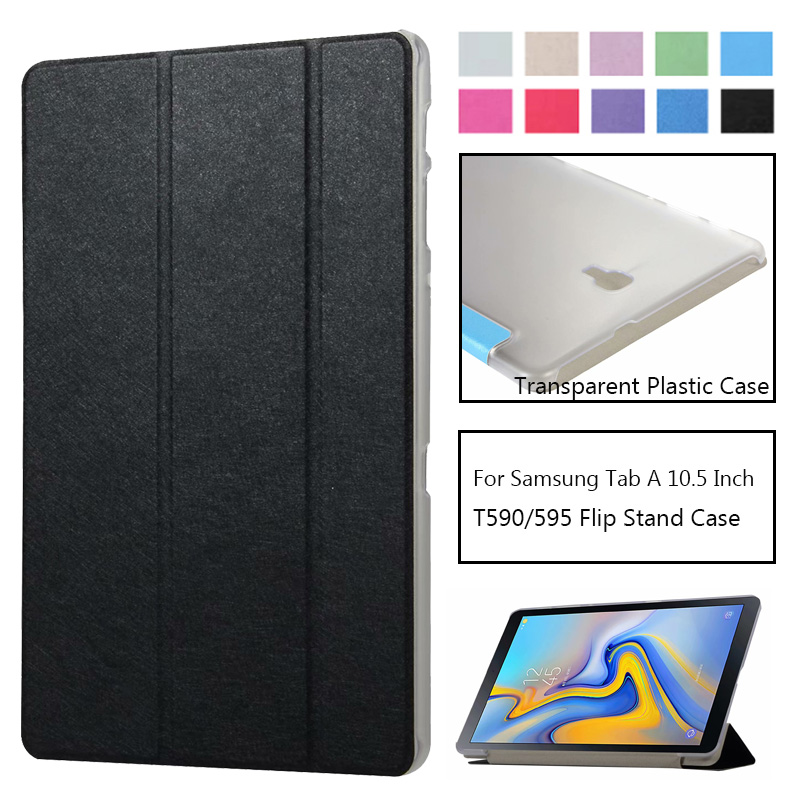 Flip Ultra Thin Case For Samsung Galaxy Tab A 10.5 2019 Sm T590 T595 T597 Pu Leather Hard Cover For Samsung Tab A 10.5 Case