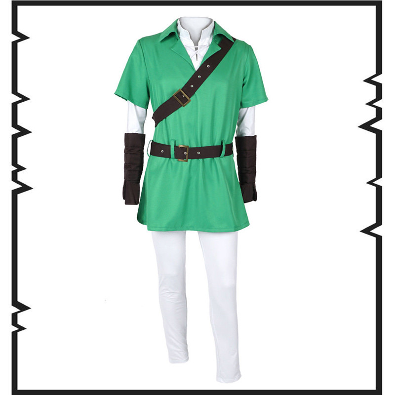 New Arrival Custom Made The Legend Of Zelda Link Cosplay Costume euro size high quality