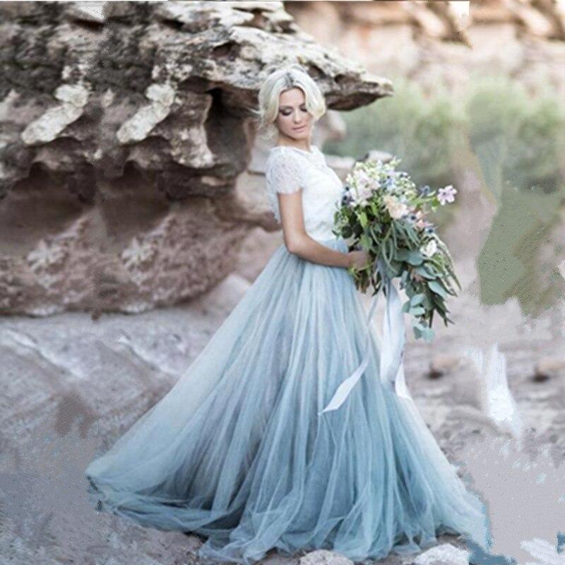 Ice Blue Wedding Dress Low Price