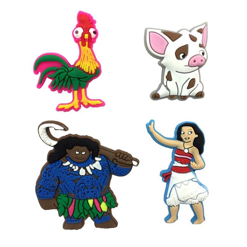 4Pcs Moana Cartoon PVC Badges Pins Brooches Pinback Button