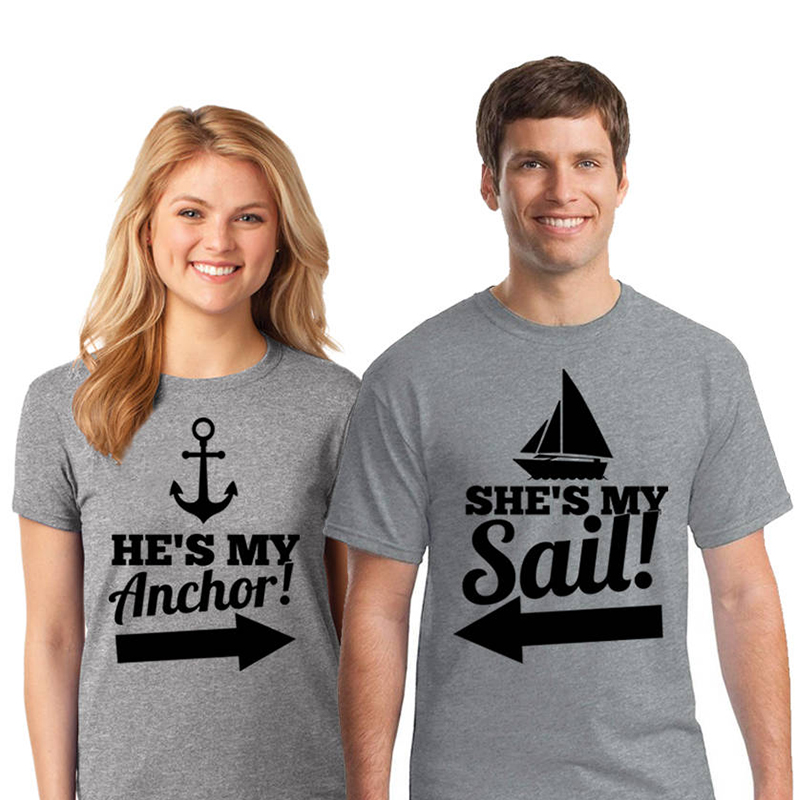 Hot Sale Enjoythespirit Couple Tshirt Couples He S My Anchor She S