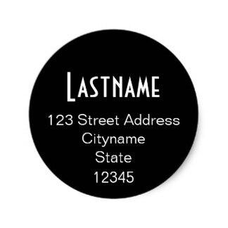 Cm Circle Address Sticker Template Blackin Stickers From Home - Address sticker template