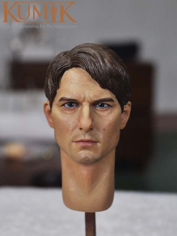 KUMIK 16-19 Tom Cruise Head Carving 1/6 Man Soldier Custom Head Sculpt 12 Figure Collection Toys image kiosk 2d qr 1d koisk embedded scanner module ep2000 free shipping usb2 0 rs232 interface usb