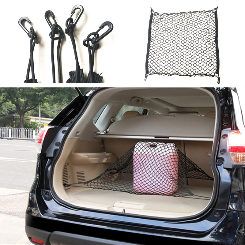 CAR TRUNK CARGO MESH NET 4 HOOK CAR LUGGAGE FOR VW GOLF 6 PASSAT B5 B6 B7 B8 JETTA TIGUAN MAGOTAN SAGITAR SANTANA POLO 70X70CM утюг russell hobbs light easy 23590 56 2400вт синий белый