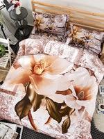 4 шт. постельное белье комплект Изящные популярных 3D с цветочным принтом ковкого уютный Постельное белье