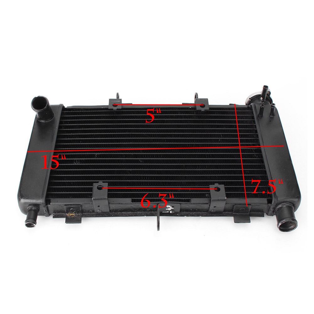 Motorcycle Aluminum Cooler Radiator For YAMAHA FZ6 FZ6N FZ6-N FZ6S 2006 2007 2008 2009 2010 black replacement radiator cooler cooling for yamaha fz6 fz6n fz6s fz600 04 10