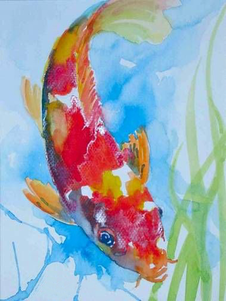 Compare prices on abstract water colors online shopping for Fish out of water watercolor