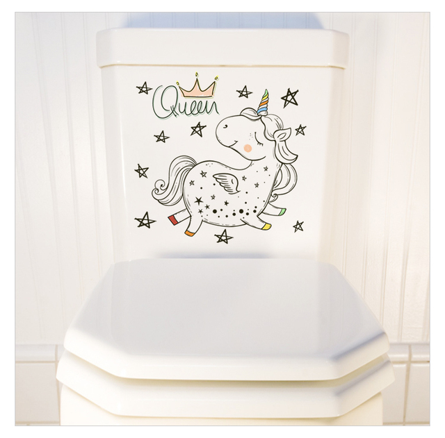 3D Unicorn Toilet Sticker