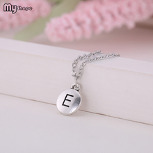 My Shape Jewelry Accessories Special Meaning of Letters E Letter Round Pendants Necklaces