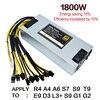 Original Bitmain 1800w Power Supply 6PIN 10 Antminer APW3 12 1600 ETH PSU Antminer S9 S7