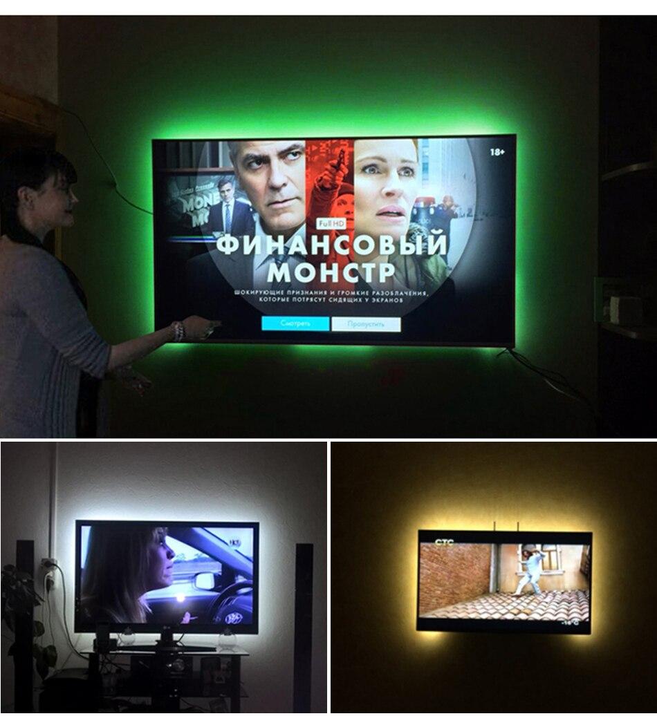 HTB1aMv.Xq5s3KVjSZFNq6AD3FXat USB DC 5V LED Strip 50CM 1M 2M 3M 4M 5M SMD 2835 Cable Power 3Key Flexible Light Lamp Desk Decor Screen TV Lighting Background