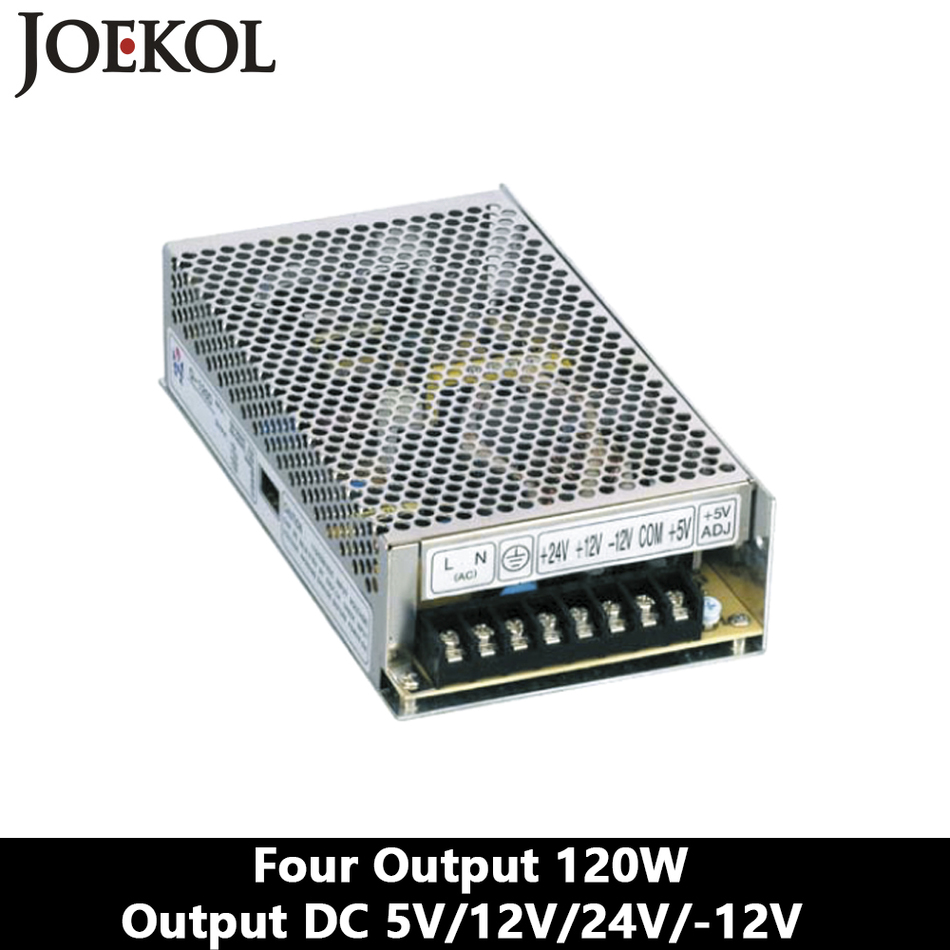 Four output DC power supply 120W 5V 12V 24V -12V,smps power supply for led driver,AC110V/220V Transformer to DC 5V 12V 24V -12V q 60d four output dc power supply 60w 5v 12v 24v 12v ac dc smps power supply for led driver ac 110v 220v transformer to dc