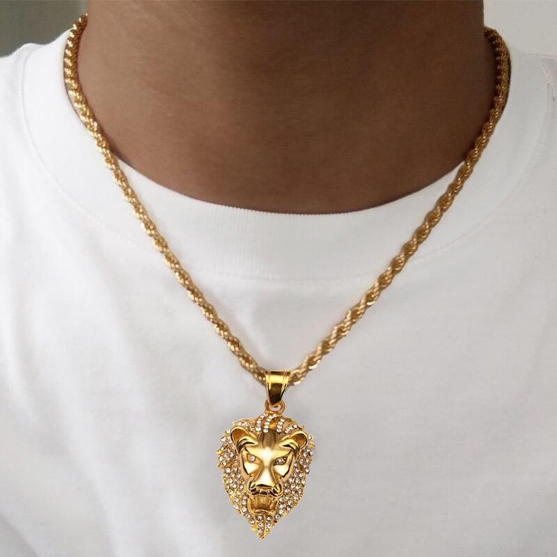 gros collier en or homme
