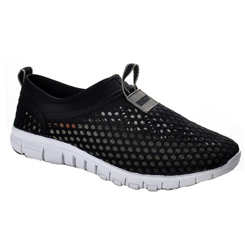 2016 New Fashion Men Casual Shoes Walking Flats Breathable Zapatillas Shoes Plus Size 36 46