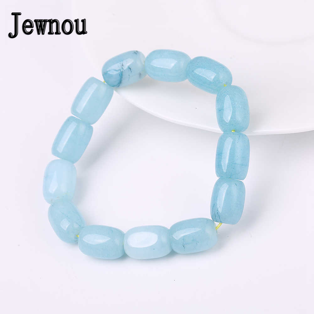 Jewnou Aquamarine Bracelet Trend Woman Fine Jewelry Men Upscale Accessories Custom Made Natural Stone Wristlet Luxurious Gift