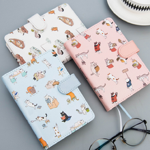 Office School Supplies - Notebooks  - Cute Cat Leather Notebook Cute Kawaii Notepad Agenda 2018 Daily Planner Creative Office School Stationery Supplies Gift For Girl
