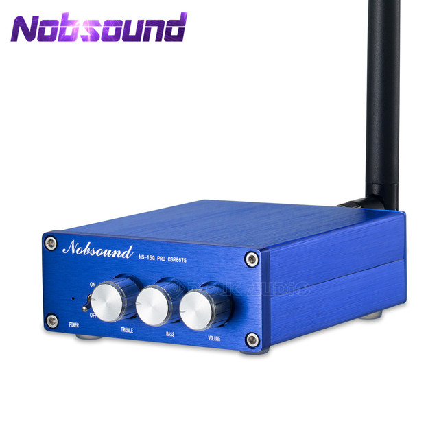 Nobsound Amplificador de Audio Digital CSR8675, Mini APTX HD HiFi, 5,0 W + 100W, Bluetooth 100
