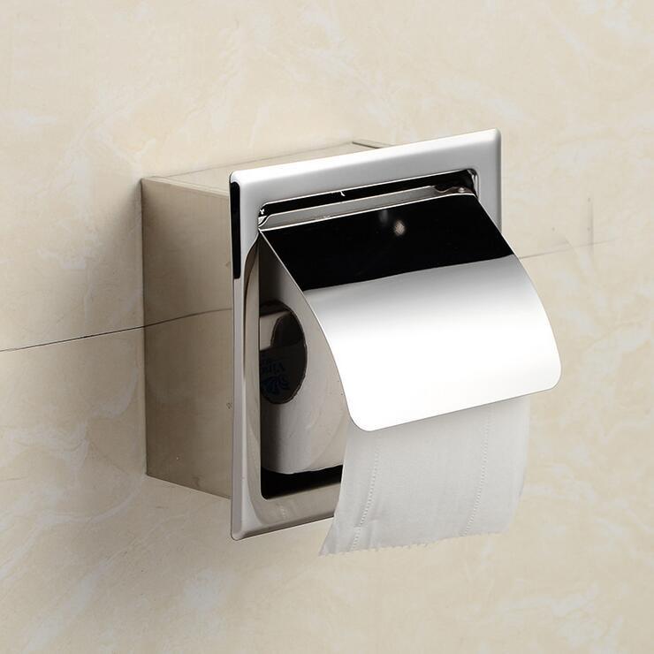 Toilet Bathroom Paper Tissue Roll Holder Wall Mounted Waterproof Stainless Steel