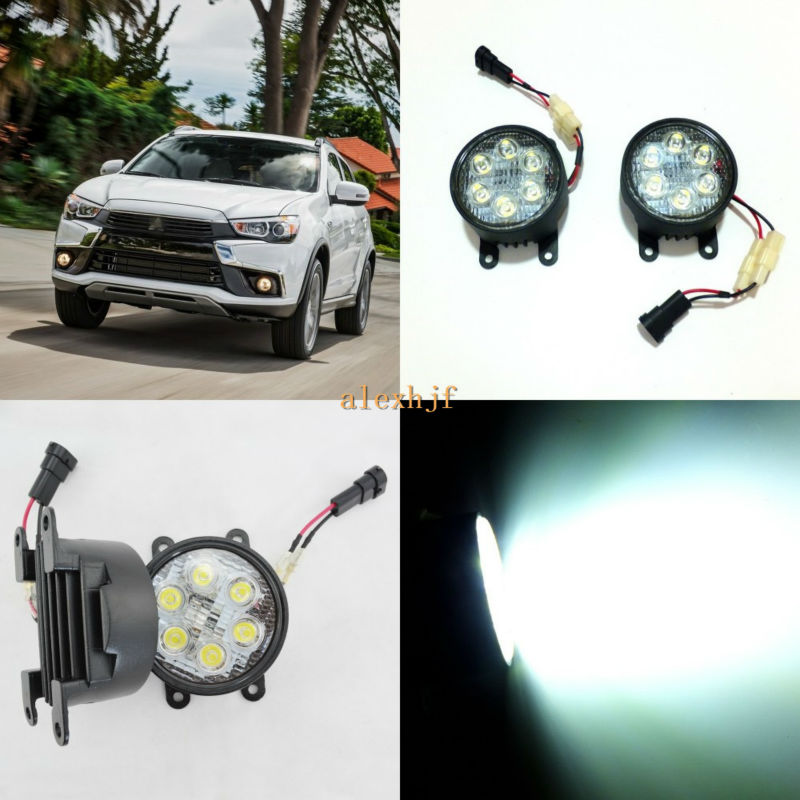 ФОТО July King 18W 6LEDs H11 LED Fog Lamp Assembly Case for Mitsubishi Outlander 2010~ON etc, 6500K 1260LM LED Daytime Running Lights
