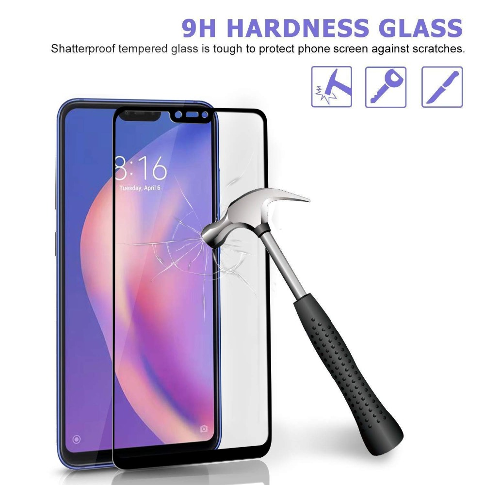 19D Edge to Edge Shatterproof Tempered Glass On For Xiaomi Mi 5X 6X A1 A2 Lite Screen Protector Full Cover For Xiaomi 8 9 9SE in Phone Screen Protectors from Cellphones Telecommunications
