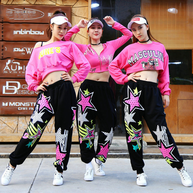 Hip Hop Costume Women Jazz Street Dance Clothing Cheerleader Dancing Suit Rave Outfit Ladies Modern Stage Performance Wear DT994