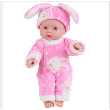 12''30CM Kids Toys Soft Silicone Reborn Baby Realistic Vinyl Doll Black Reborn Babies Dolls with Clothes for Girls