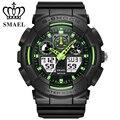 Moda smael 50 m impermeable reloj electrónico digital de cuarzo relojes deportivos reloj hombre casual para hombre reloj de pulsera de regalo 1027