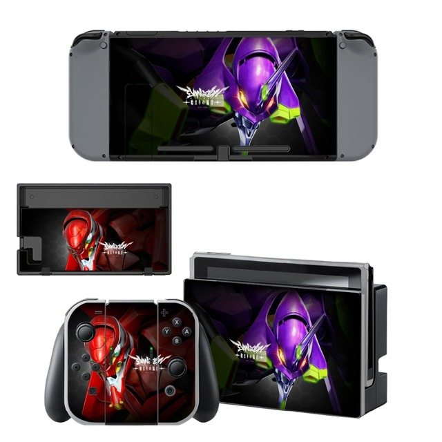 Nintend Switch Vinyl Skins Sticker For Nintendo Switch Console and Controller Skin Set - For Neon Genesis Evangelion NERV 2