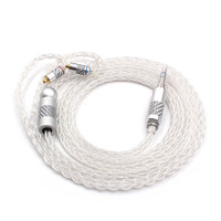 FENGRU Hand made 5N Sterling Silver 8 Shares Replaceable MMCX Upgrade Cable For Shure SE535 SE215 SE846 UE900