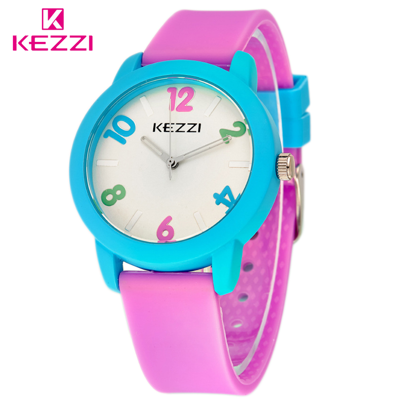 KEZZI Free Shipping Children Watch Leather Strap Quartz Boys gilrs Watches Fashion Kids Student Cute Sport Waterproof Gift Clock cartoon children watches fashion girl bear pattern kids waterproof watch cute student leather strap wrist watch relogio