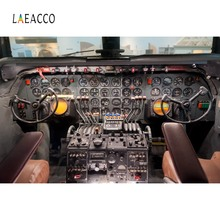Laeacco Plane Aircraft Dashboard Cabinet Fly Baby Portrait Interior Photography Backdrops Photo Backgrounds For Studio